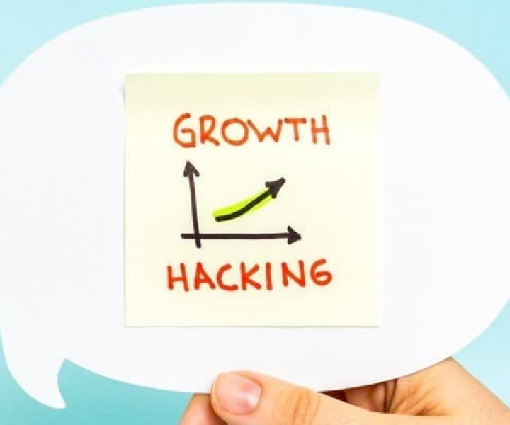 Business graph and chart of growth hacking. Marketing concept. Source: https://hub.tie.org/e/startup-growth-hacking