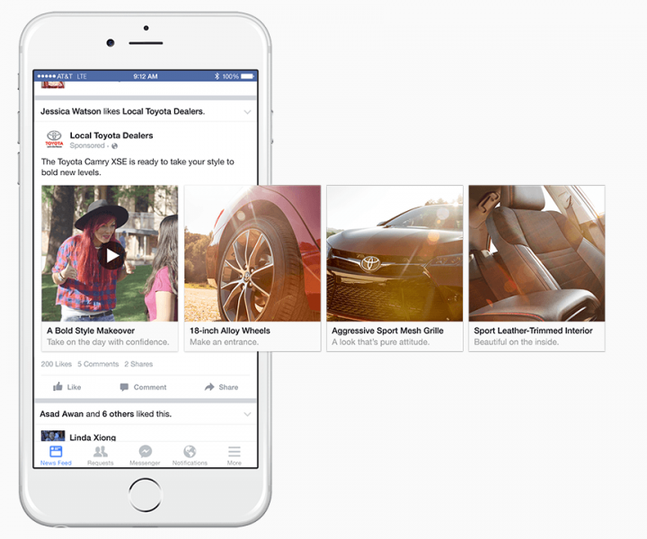 Facebook Photo Carousel