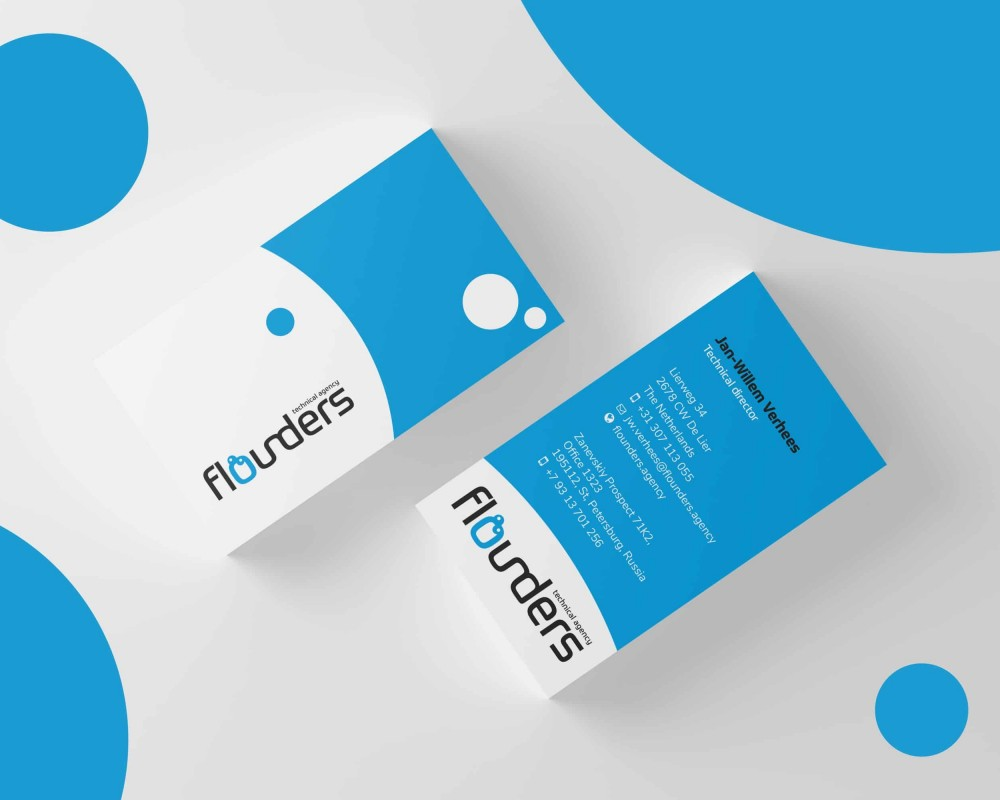 Flounders Business Cards